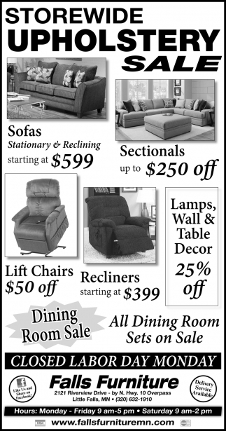 Storewide Upholstery Sale