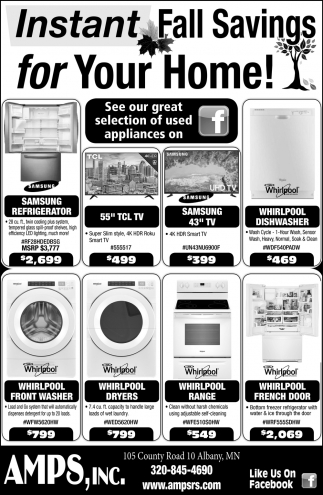 Instant Fall Savings for Your Home!
