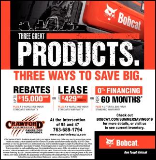 Three Ways to Save Big