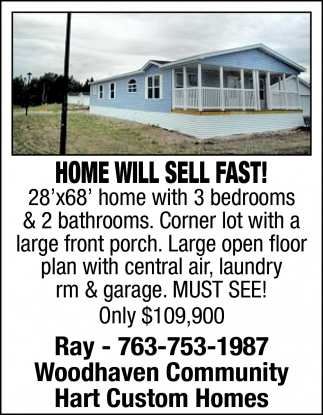 Home Will Sell Fast!