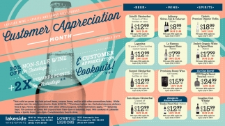 Customer Apprecation Month