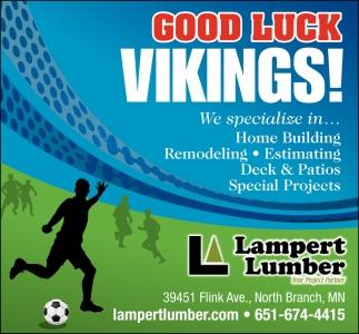 Good Luck Vikings!
