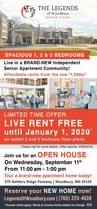 Live in Brand-New Independent Senior Apartment Community!