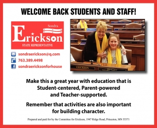 Welcome Back Students & Staff!