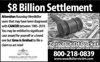 $8 Billion Settlement