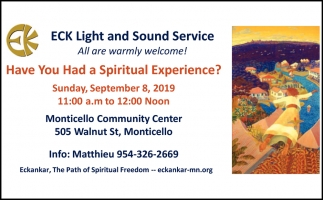 Have You Had a Spiritual Experience?