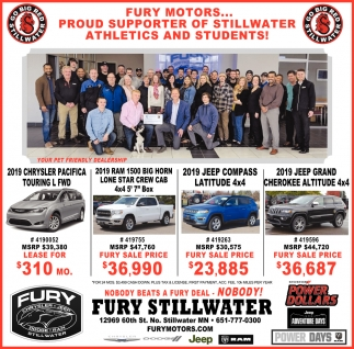 Fury Motors... Proud Supporter of Stillwater Athletics and Students!