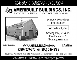 Seasons Changing - Call Now