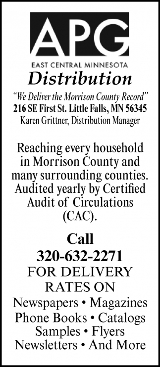 We Deliver the Morrison County Record