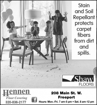 Stain & Soil Repellant Protects Carpet Fibers form Dirt and Spills