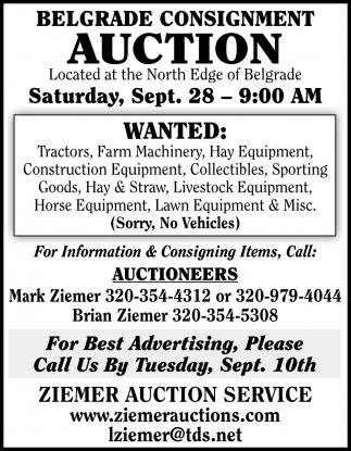 Belgrade Consignment Auction