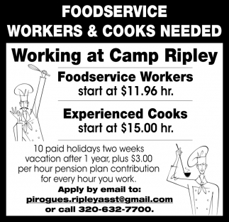 Foodservice Workers & Cooks Needed