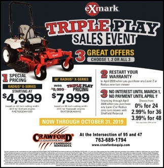 Triple Play Sales Event