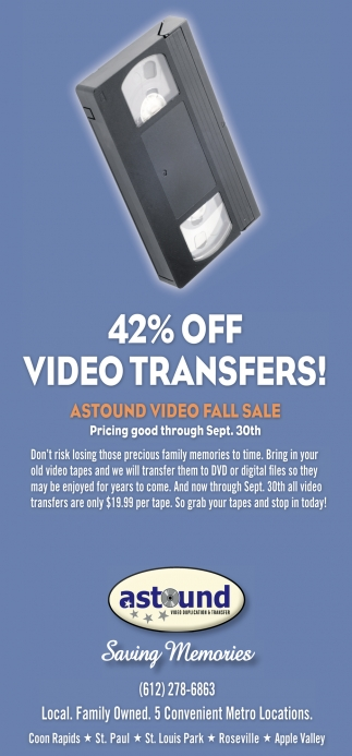 42% OFF Video Transfers