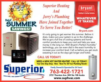 End of Summer Savings!
