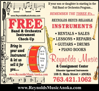 FREE Band & Orchestra Instrument Check-Up