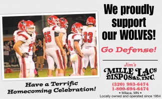 We Proudly Support Our Wolves!
