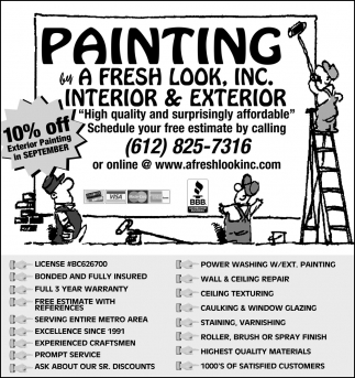 10% OFF Exterior Painting in September