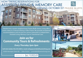 Now Taking Reservations for Assisted Living & Memory Care
