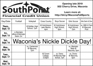 Waconia's Nickle Dickle Day!
