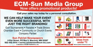 ECM-Sun Media Group Now Offers Promotional Products!