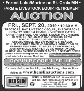 Farm & Livestock Equip. Retirement Auction