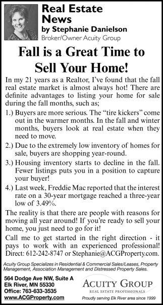 Fall is a Great Time to Sell Your Home!