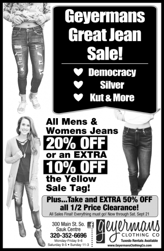 Geyermans Great Jean Sale!