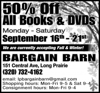 50% OFF All Books & DVDs