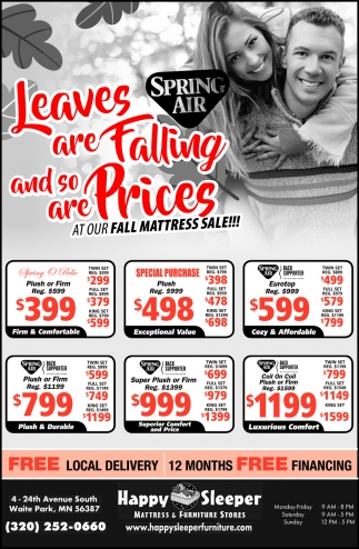Leaves are Falling and So are Prices at Our Fall Mattress Sale!