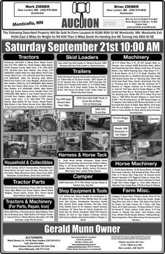 Auction Saturday September 21st