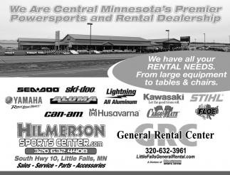We are Central Minnesota's Premier Powersports and Rental Dealership