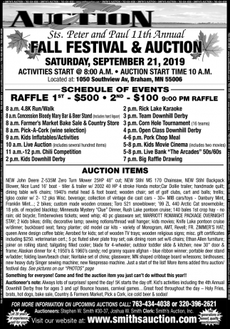 Sts. Peter and Paul 11th Annual Fall Festival & Auction