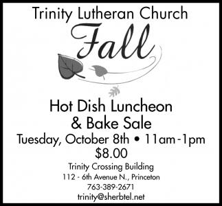 Hot Dish Luncheon & Bake Sale