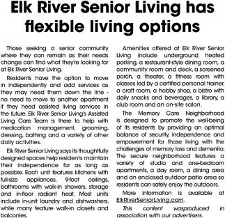 Elk River Senior Living Has Flexible Living Options