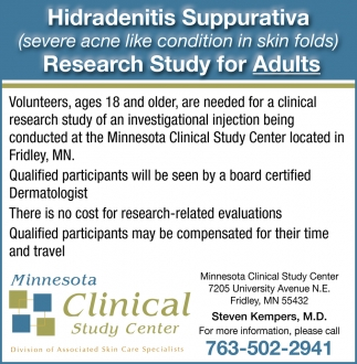 Research Study for Adults