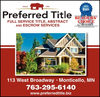 Full Service Title, Abstract & Escrow Services