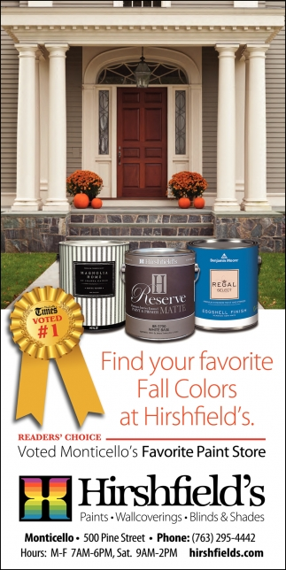 Find Your Favorite Fall Colors at Hirshfield's