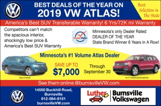 Best Deals of the Year on 2019 VW Atlas!
