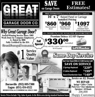 Save On Garage Doors