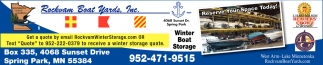 Winter Boat Storage
