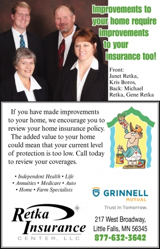Improvements to Your Home Require Improvements to Your Insurance Too!