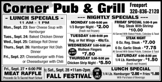 Lunch Specials & Nightly Specials