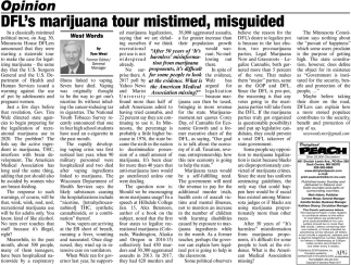 DFL's Marijuana Tour Mistimed, Misguided