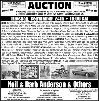 Auction Tuesday, September 24th