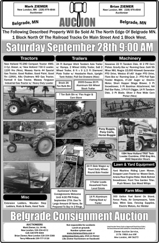 Auction Saturday September 28th