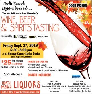 Wine, Beer & Spirits Tasting