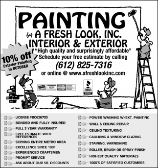 10% OFF Exterior Painting in October