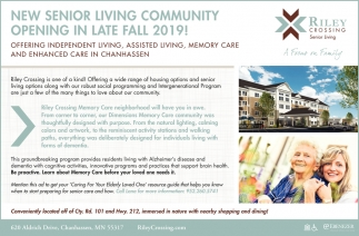 New Senior Living Community Opening in Late Fall 2019!
