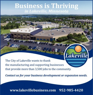 Business is Thriving in Lakeville, Minnesota